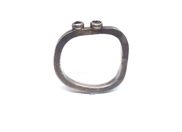 Iolite Irregular Ring