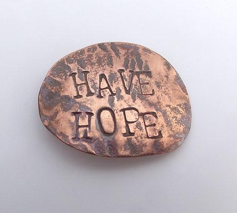 Have Hope brooch