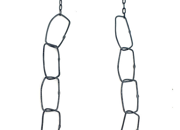 Irregular Rectangle Chain Necklace
