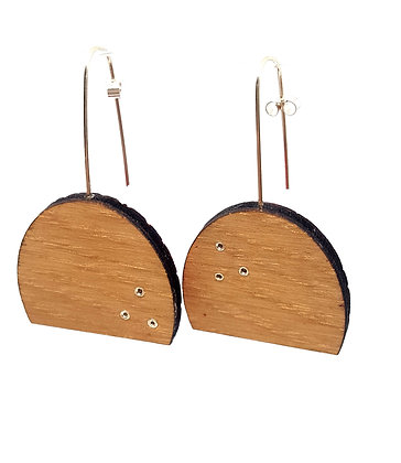 Rivet Oak Earring