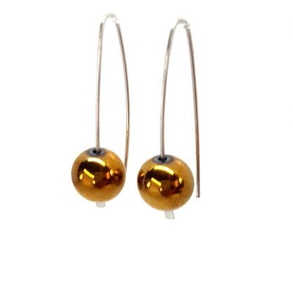 Golden Haematite Earring