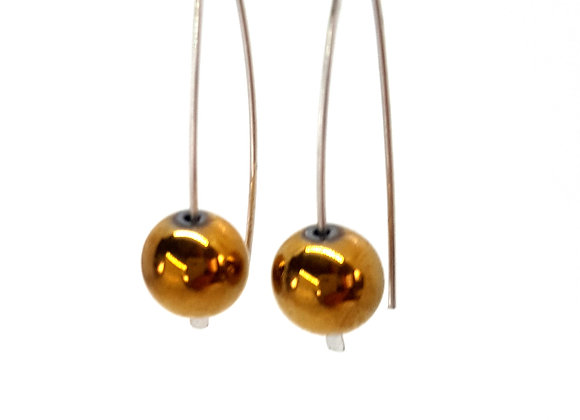 Golden Haematite Earring