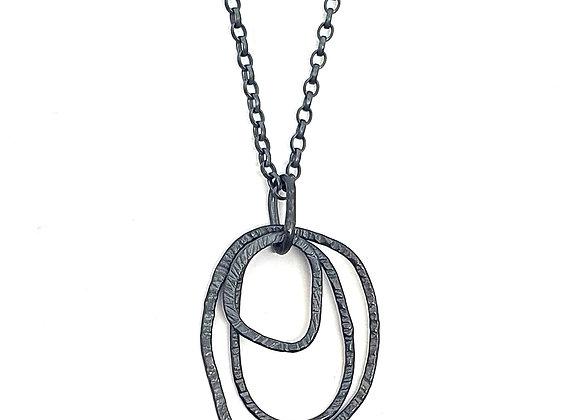 Triple Irregular Loop pendant