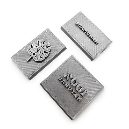 Custom Soap Stamp Plate - PLA 3D printed