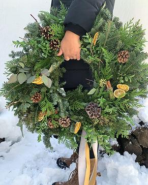 Woodland Citrus and Cinnamon Wreath