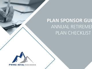 Annual Retirement Plan Checklist