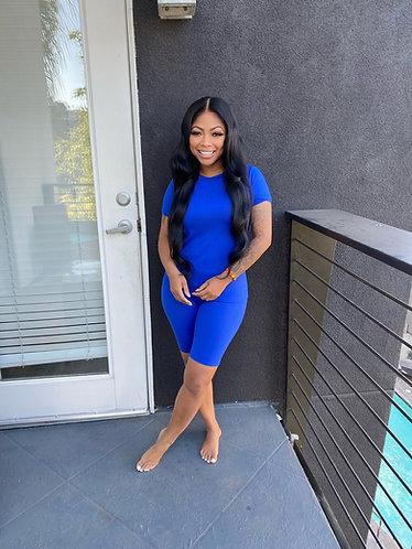 Keke 2 piece royal blue