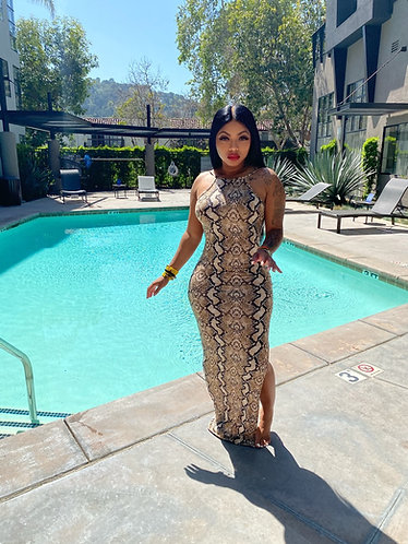 Python Maxi dress