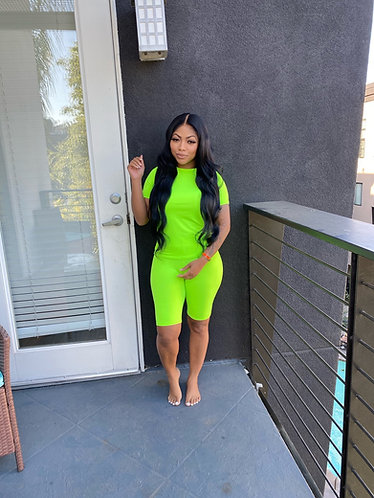 Keke 2 piece lime green