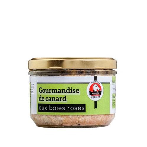Gourmandise de Pato con Bayas Rosas del Périgord 180gr