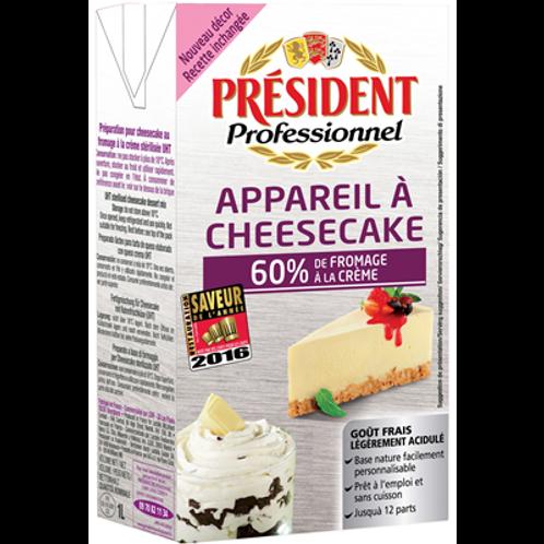 Preparación para Cheese Cake 60% crema de queso President 1L