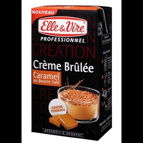 Preparación para Crème Brûlée al caramelo salado Elle et Vire 1L