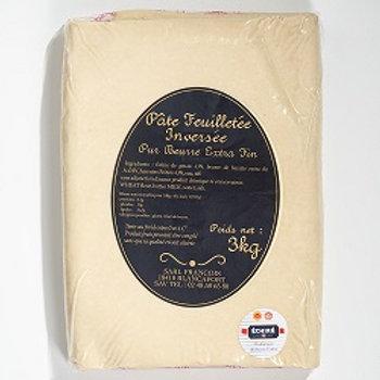 Masa de Hojaldre Invertida Artesana sin Estirar 100% Mantequilla Echiré 3kg