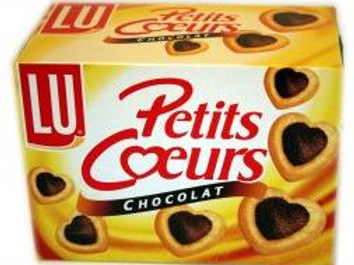 Galletas Petits Coeurs Hojaldradas al Chocolate LU (8x125gr)