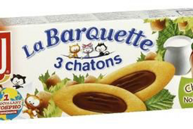 Galleta Barquette 3 Chatons de Chocolate LU (4uds x 120gr)