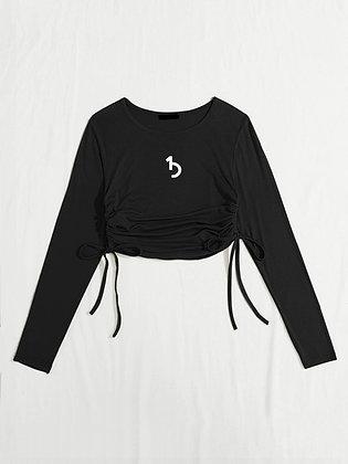 Drawstring Long Sleeve Top