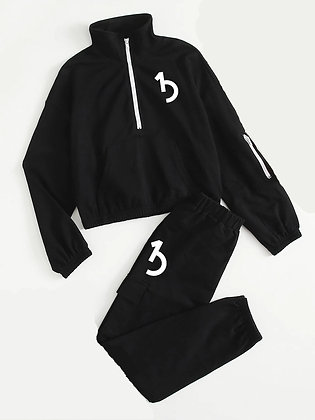 KIDS Black 2 Piece Sweatset
