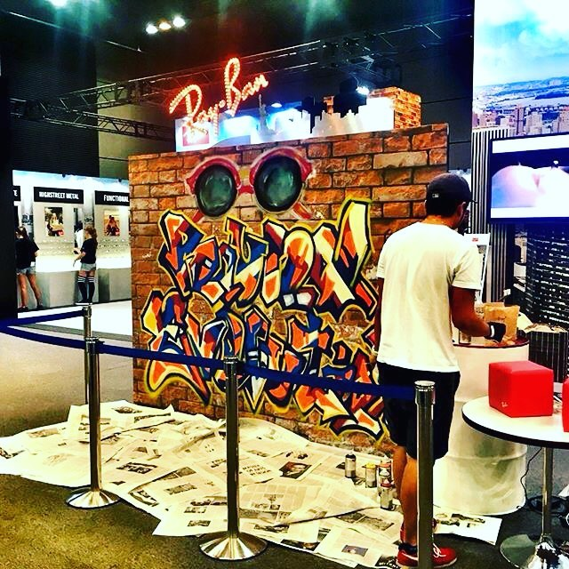 #graffiti#streetart #rayban #numberd#グラフィティ#ストリートアート#レイバン#展示会#ライブペイント