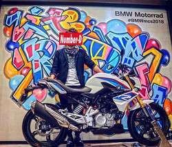 New Artwork for BMW G310R_バイクまた乗りたくなってきた。。 #graffiti #streetart #numberd  #art #artwork #ストリートアート#to