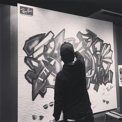 Ray-Banイベント__Paris MIKI 渋谷__#graffiti_#graffiart_#streetart_#montana94_#rayban_#shibuya_#numberd_#ar