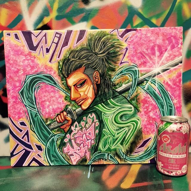 お花見したくなるいい日でした!_#streetart#お花見#graffiti#