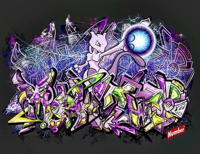 Art Work for Pokémon_🌌Mewtwo_ミュウツー🎆__M