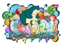 Art Work for Pokémon_Snorlax_カビゴン_㊗️オープン