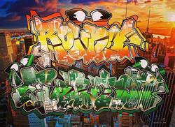 Ray-Ban _Round Evolution__#graffiti_#graffiart_#streetart_#montana94_#rayban_#roundevolution #shibuy