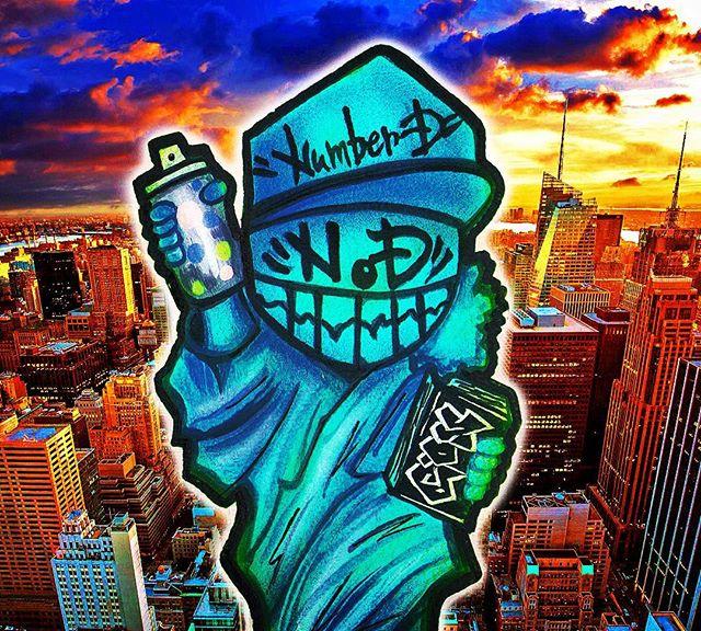 キャラもん__#graffiti #streetart #numberd #nyc #ny #newyork #newyorkcity #地下鉄 #subwayart #art #artwork #ス