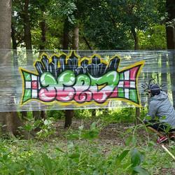 先日プロカメラマンの方に撮影してもらった作品。テーマは1時間で出来るとこまで。__phot by ysk_#graffiti#streetart#japanesegraffiti#numberd#早く