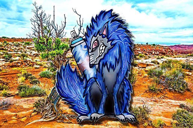 Blue Wolf__#graffiti_#graffiitiart_#streetart_#montana94_#numberd_#art#artwork #アート#グラフィティ_#グラフィティアー