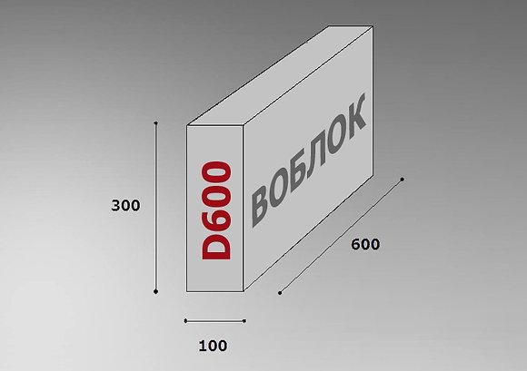 Пеноблок D600 600х300х100 цена за м3
