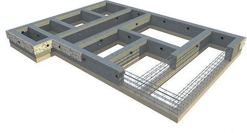Схема устройства ленточного фундамента для дома из пеноблоков или газобетонных блоков