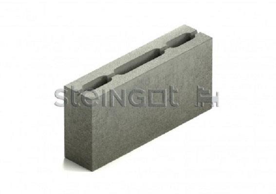 Блок перегородочный 3-х пустотный бетонный