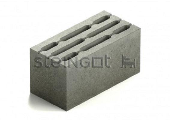 Блок стеновой восьмищелевой бетонный