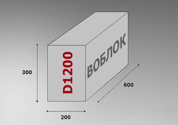 Пеноблок D1200 600х300х200 цена за м3