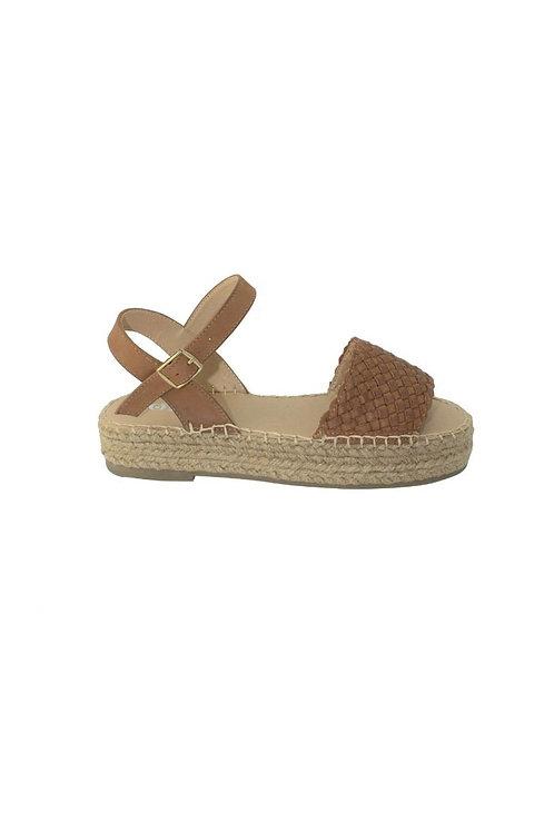 Zu Platform Leather Sandal Wedge