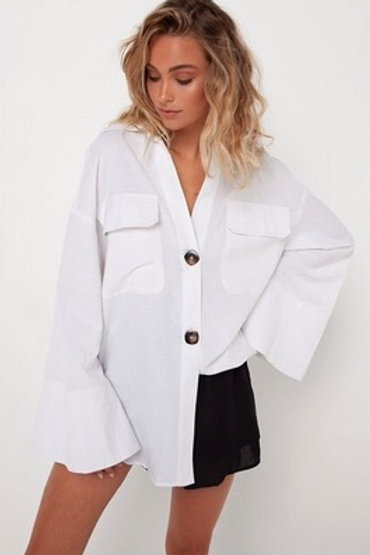 Amine Madison Oversized Shirt Linen/Rayon