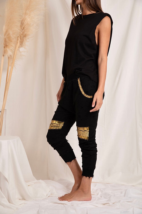 Love Lilly Gold Digger Jeans