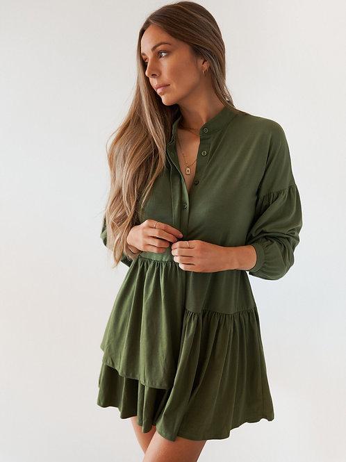 Alina Longsleeve Cotton Dress