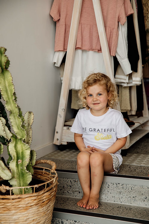 Grateful Sista Kids Tee (Retro Gold Sista)