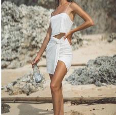 Winona White Evolve Knot Sequin Dress