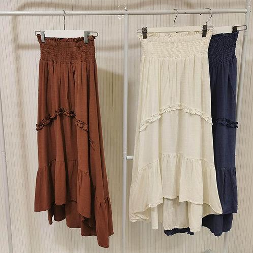 Valarie Charli Rayon Skirt in White
