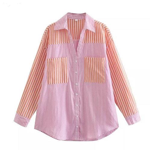 Georgie Stripe Cotton Shirt by Eyes On Floyd