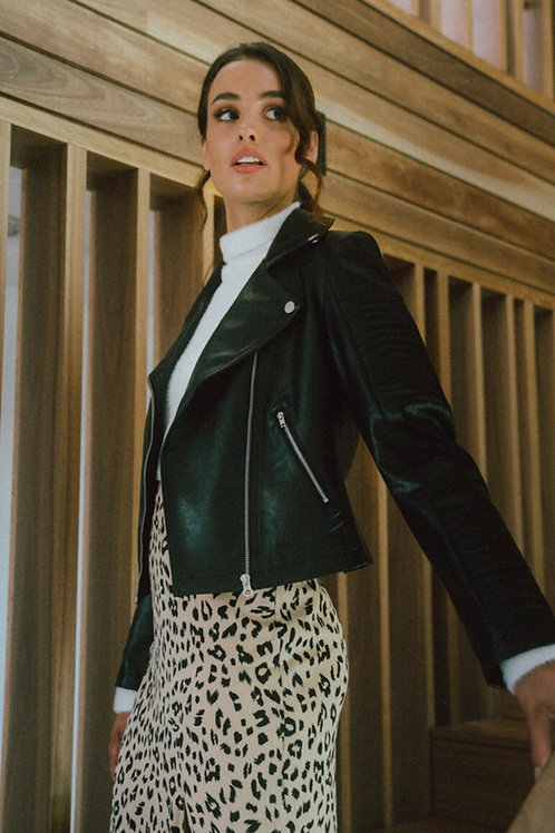 Vegan Leather Biker Jacket by Style State