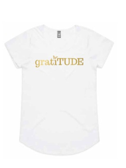 gratiTUDE Gold Tee (Butterfly Collection)