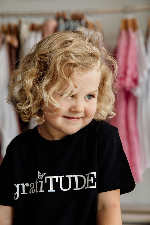 Kids (boys/girls) gratiTUDE Tee (Butterfly Collection)