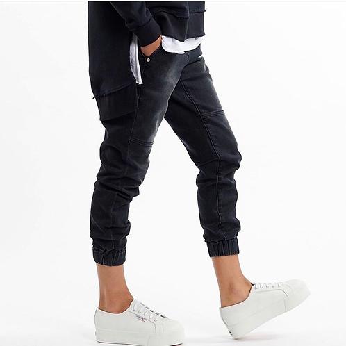 Jac+Mooki Jogger Vintage or Black Wash Jeans