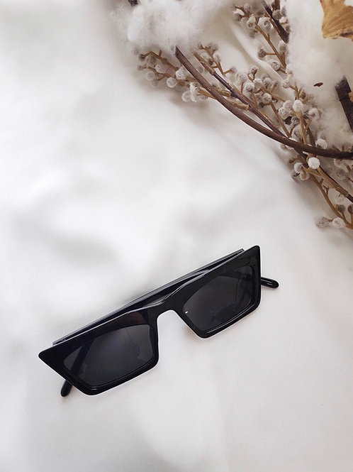Axelle Narrow Square Black Sunglasses by Angels Whisper