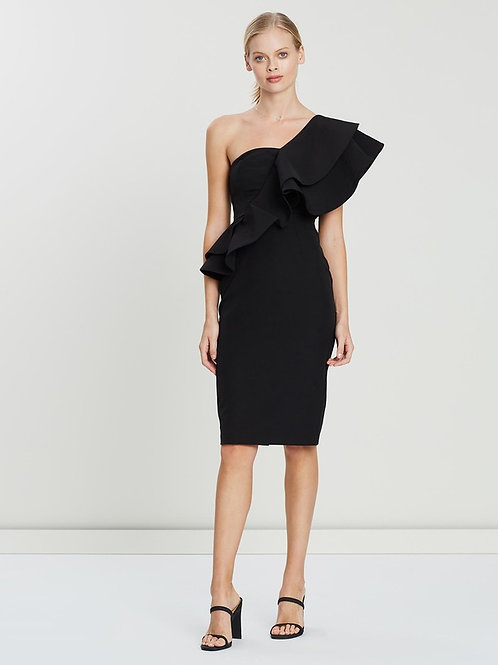 Grace Willow Arianna One Shoulder Black Dress